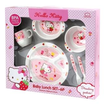 Bộ đồ ăn cho bé Lock&Lock Hello Kitty Set 6P LKT461S6