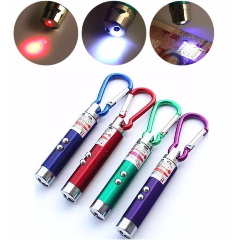 Bảng giá Mua Bộ đôi móc khóa đèn pin 3 trong 1 ( Led + Laser + Soi tiền giả) tiện lợi