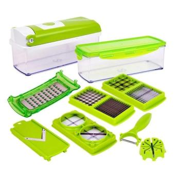 Bộ dụng cụ cắt rau củ 10 món Nicer Dicer Plus (Xanh)