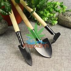 Bộ dụng cụ làm vườn 3 món (cán gỗ)