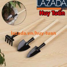 Bộ dụng cụ làm vườn mini gồm 2 xẻng và 1 cào