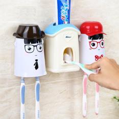 Bộ dụng cụ lấy kem tự động kèm 2 giá treo bàn chải AAPEC E1501
