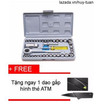 Bộ dụng cụ sửa chữa đa năng 40 món + Dao ATM