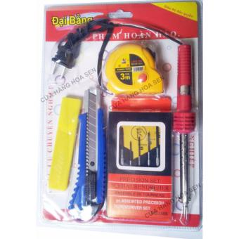 Bộ dụng cụ sửa chữa mỏ hàn, bộ vít, dao, thước