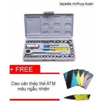 Bộ dụng cụ sửa chữa ô tô xe máy đa năng 40 món +Dao cán thép ATMchất lượng cao