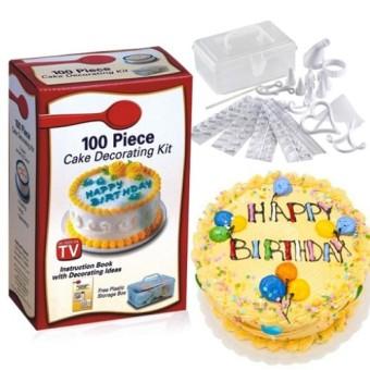 Bộ dụng cụ trang trí bánh kem 100 món