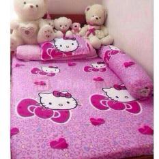 Bộ ga giường – 2 áo gối- 1 áo gối ôm kitty trái tim 160×200