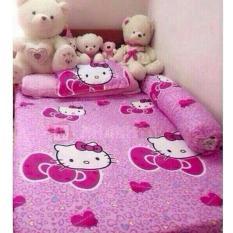 Bộ ga giường – 2 áo gối- 1 áo gối ôm kitty trái tim 180×200