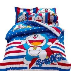 Bộ ga giường doraemon sao xanh 1m6xm