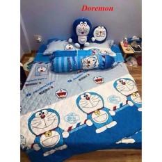 Bộ ga gối Poly Cotton Doremon kt 2m2x2m
