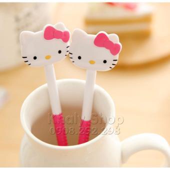 Bộ Hộp MUỖNG NĨA hình Hello Kitty (MÀU HỒNG)