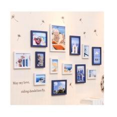 Bộ 13 khung ảnh treo tường cao cấp Tâm House 1445 ( kèm vật trang trí )
