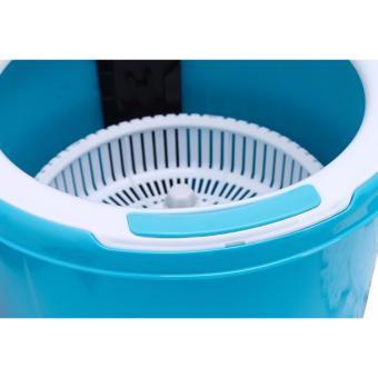 Bộ lau nhà tròn lồng nhựa Happy House TS-5164 (Xanh) - 3