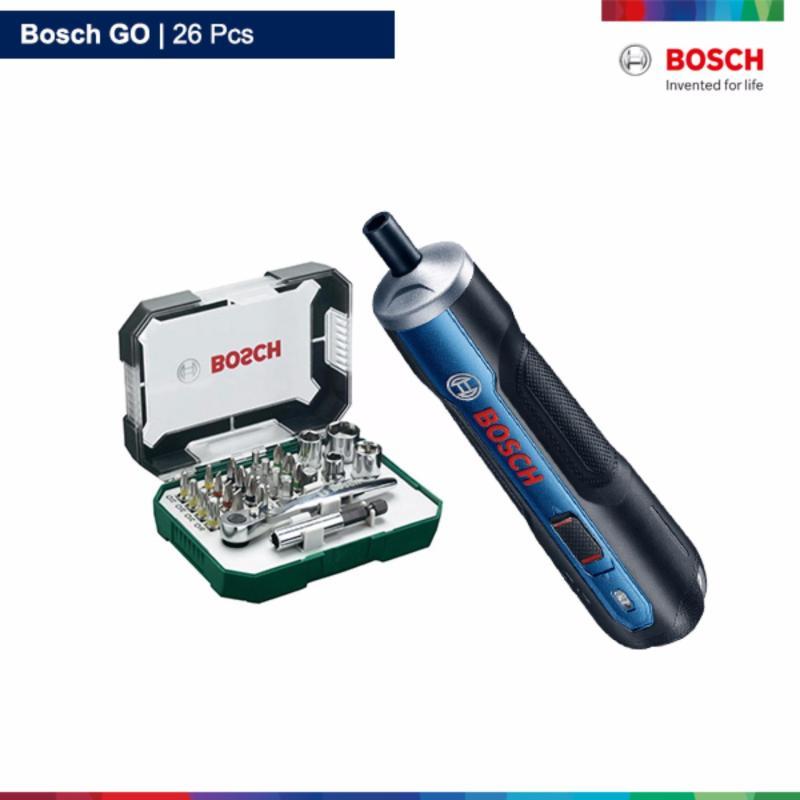 Bộ máy bắt vít dùng pin Bosch GO 26 chi tiết