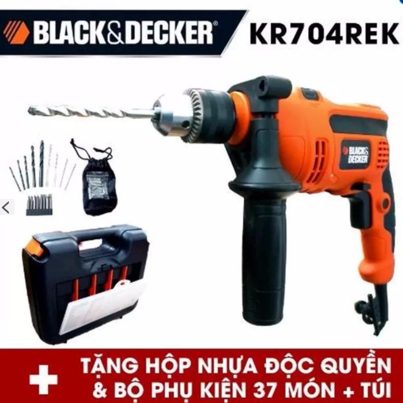 Bộ máy khoan cầm tay và 37 chi tiết Black+Decker KR704REKP20-B1 (Cam)