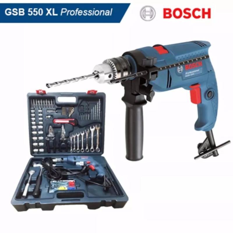 Bộ máy khoan động lực Bosch GSB 550 + 122 phụ kiện (SET XL)