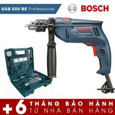 Bộ máy khoan động lực Bosch GSB 550 và bộ dụng cụ 100 chi tiết Bosch (Xanh) – Hãng phân phối chính thức
