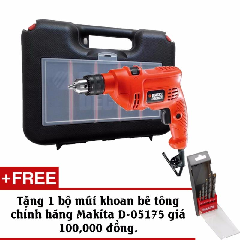 Bộ máy khoan và 37 chi tiết BLACK & DECKER KR504RE+Tặng kèm bộ mũi khoan bê tông Makita D-05175