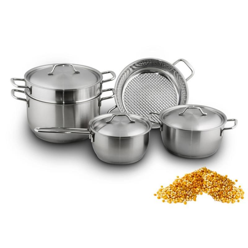 Bộ nồi inox Fivestar bếp từ 3 đáy 5 món - nắp inox