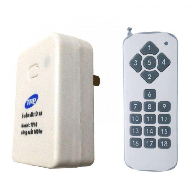 Bộ ổ cắm điều khiển từ xa hồng ngoại RF TPE TF10 + Remote 18 nút R3.4