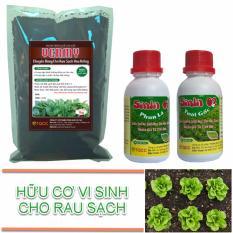 Bộ sản phẩm trồng rau sạch tại nhà (1 kg vermy + 1 smin phun lá + 1 smin tưới gốc)