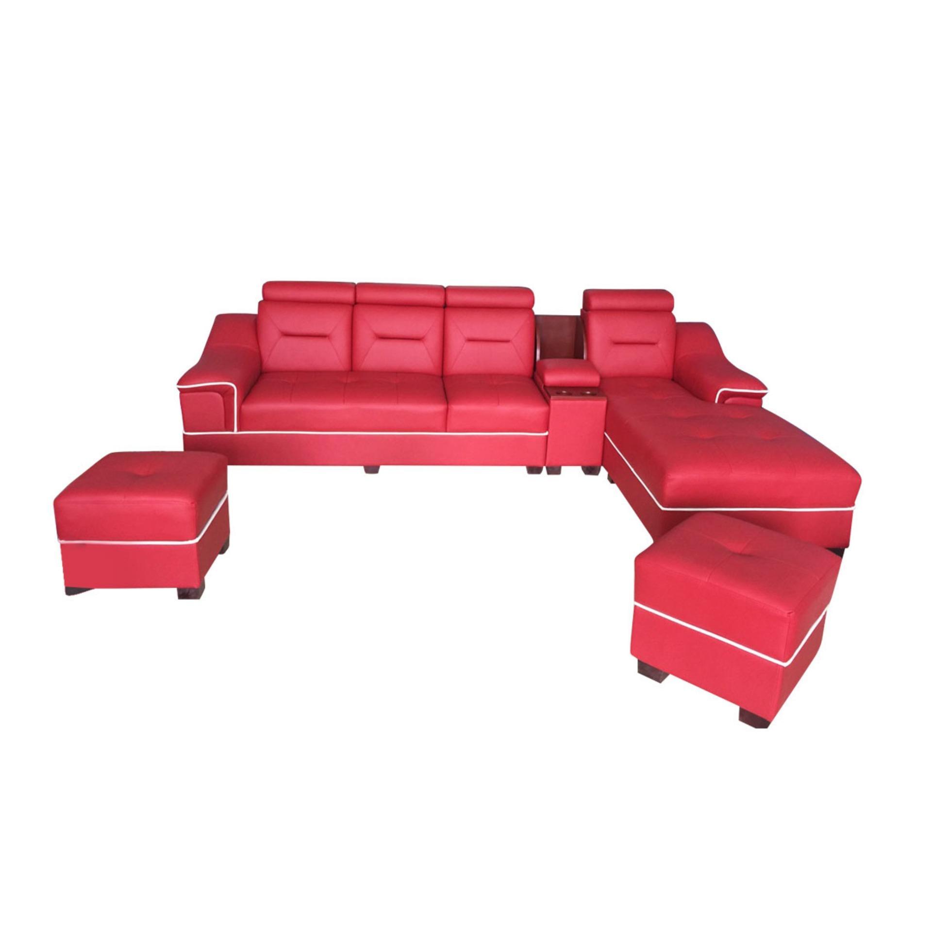 Bộ sofa góc Li-Concept Juno (đỏ)