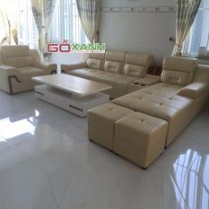 Bộ sofa phòng khách rộng Gỗ Xanh(Vàng nhạt)