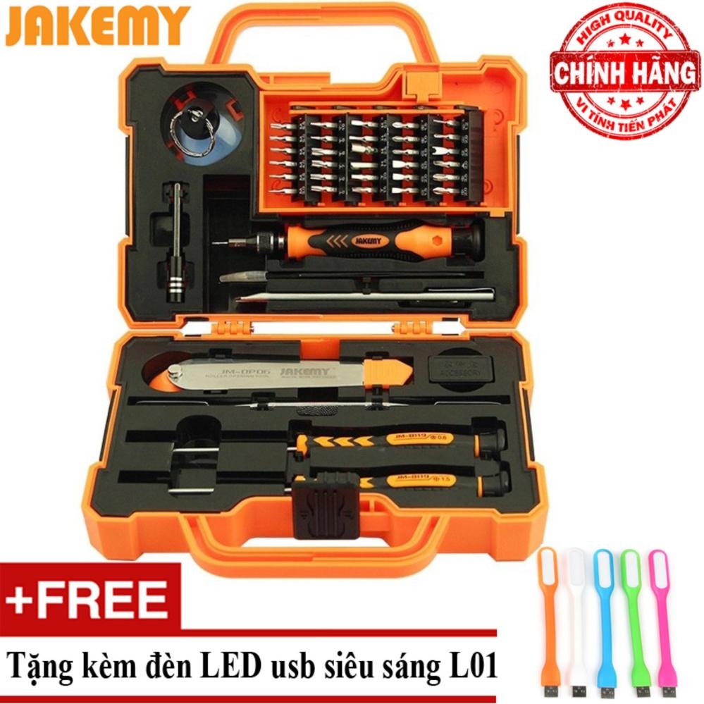 Bộ tua vít đa năng 45 in 1 Jakemy JM-8139 + Tặng đèn Led usb L01