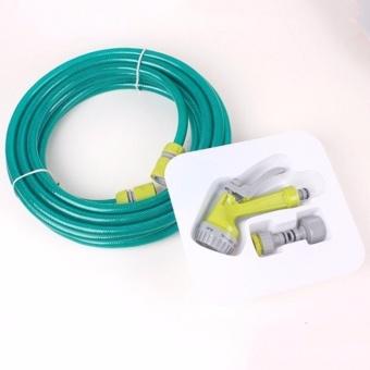 Bộ vòi xịt rửa xe chuyên dụng đa năng kèm dây 10m siêu bền (Xanh)