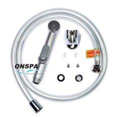 Bộ xịt vệ sinh dây PVC xám bạc xoay 360 độ Onspa 134 1m2