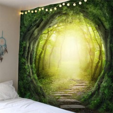 Nơi Bán BolehDeals Creative Wall Tapestry Beautiful Pictures Art Mural Hanging Decoration Forest Round Vine Trail Pattern – intl