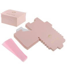 BolehDeals Lovely Baby Shower Gift Favour Boxes Christening Wedding Chocolate Box Pink - intl