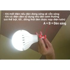 Bóng đèn cảm ứng tự sáng khi cúp điện 12W (WHITE)