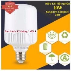 Bóng đèn Led trụ 10W TAT Cao cấp - Siêu sáng - Tiết kiệm điện (Trắng)