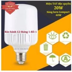 [Sỉ]- Bóng đèn Led trụ 20W TOATAT Cao cấp – Tiết kiệm điện (Trắng/Vàng)