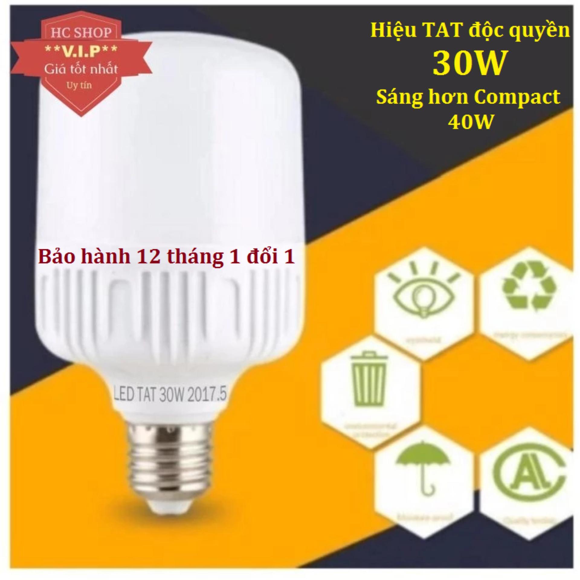 [Giá Sỉ] Bóng đèn Led trụ 30W TOATAT Siêu sáng - tiết kiệm điện (Trắng)