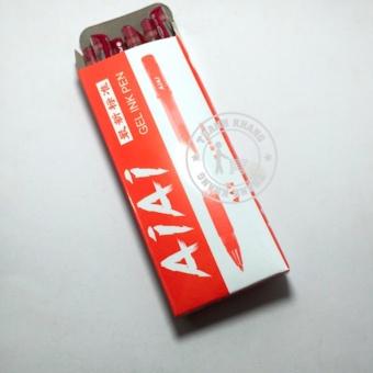 Bút gel nước màu đỏ - Hộp 10 cây Thanh khang 008000003