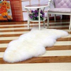 BUYINCOINS Có Lông Thảm Da Cừu Bọc Ghế Phòng Ngủ Giả Thảm Ghế Lót Thảm trải Có Thể Giặt Nhân Tạo Dệt Trắng-quốc tế