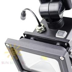 Cam Bien Am Thanh – Đèn Led Pha có cảm biến chuyển động 10W Cao cấp (Ánh sáng trắng) – Tự động bật tắt khi có chuyển động – Phân Phối và Bảo hành 1 đổi 1 bởi SUN STORE SG