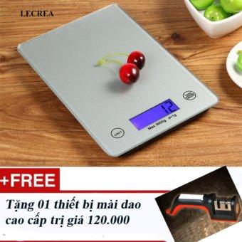 Cân Điện Tử Tiểu Ly nhà bếp LECREA loại 5kg / 1g + Tặng 01 thiết bịmài dao loại xịn