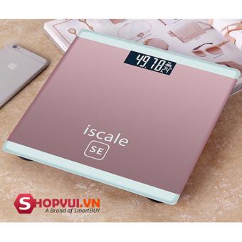 Cân sức khỏe điện tử gia đình mặt kính cường lực i-Scale