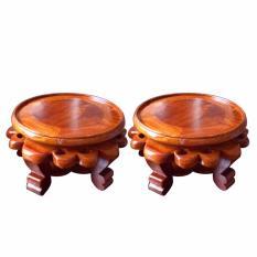 Cặp kỷ tròn gỗ hương đỏ KTC30