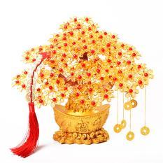 Cây cành vàng lá ngọc đế vàng trang trí ngày tết