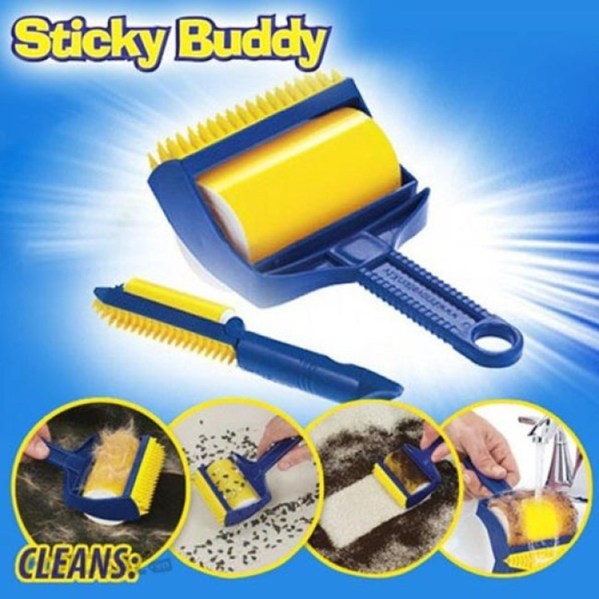 Cây lăn bụi quần áo sofa chăn ga gối đệm đa năng Sticky Buddy