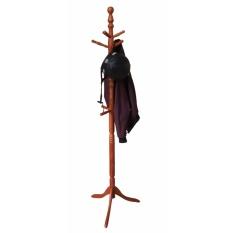 Cây treo đồ đế 3 chân dẹt gỗ cao su (Vàng cánh gián)
