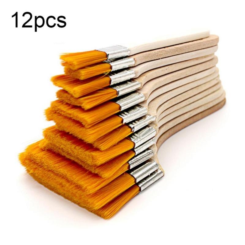 Mua CHEER 12pcs/set Wooden Oil Painting Brush Oil Paint Brush Nylon Hair Art Supply Wood - intl