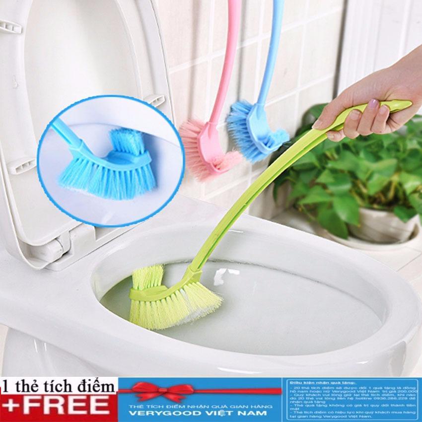 Chổi cọ toilet 2 đầu + Tặng kèm thẻ tích điểm Verygood