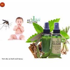 chống virut Zika muỗi bay xa bằng tinh dầu đuổi muỗi và côn trùng hương bạc hà Spray 50ml