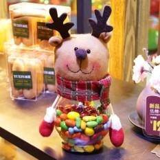Giáng sinh năm 2017 Kẹo Bình Ông Già Noel Người Tuyết Nai Sừng Tấm Trẻ Em Quà Tặng Giáng Sinh Giáng Sinh Để Bàn Trang Trí-quốc tế