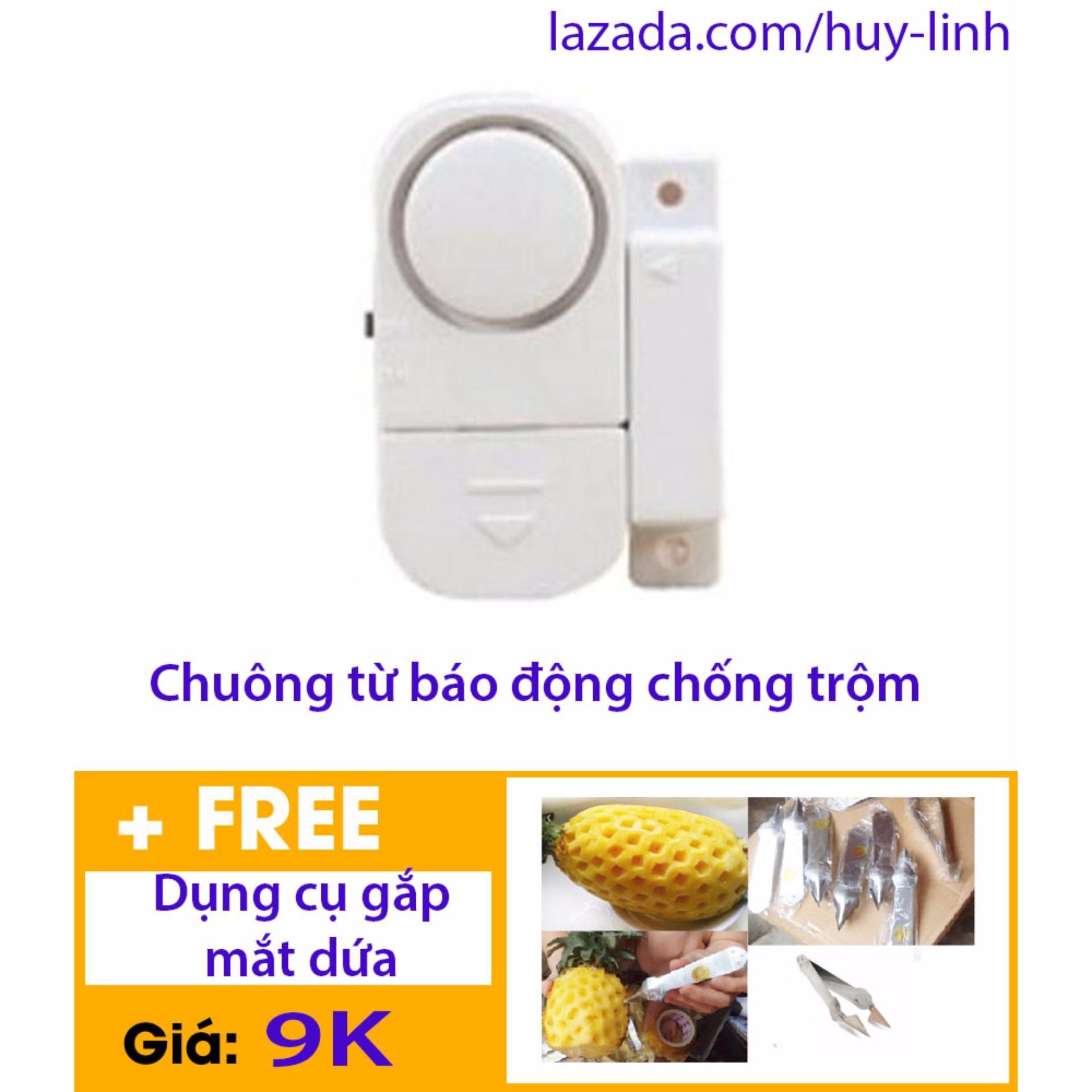Báo Giá Chuông báo động từ chống trộm gắn cửa + Free dụng cụ gắp mắt dứa tiện dụng